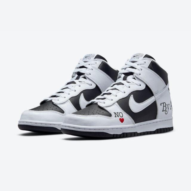 シュプリーム ナイキ SB コラボ ダンク ハイ Supreme-Nike-SB-Dunk-High-By-Any-Means-DN3741-002-pair