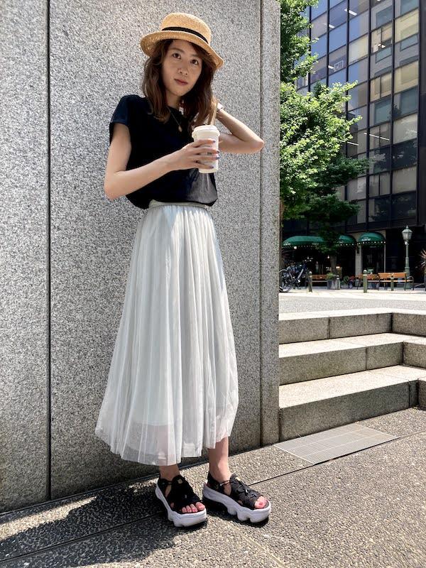 エア マックス ココ コーデ プリーツスカート air_max_koko_style_ideas_pleated_skirt