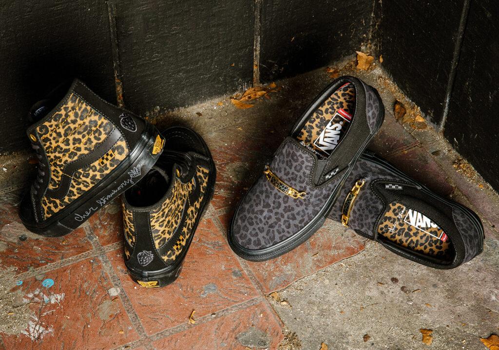 """6月26日発売【Cher Strauberry × Vans Skate SK8-Hi Decon & Skate Slip-On """"Cheetah""""】"""