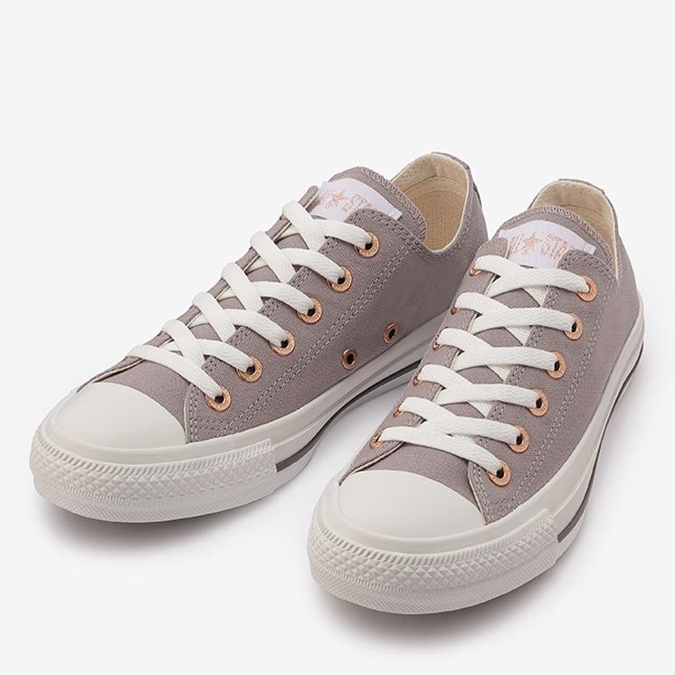 コンバース オールスター フラットアイレッツ PG OX (グレー) converse-all-star-flateyelets-pg-ox-grey-31304800-pair