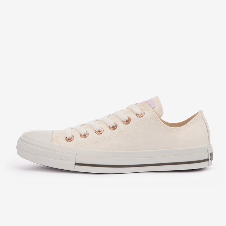 コンバース オールスター フラットアイレッツ PG OX (ホワイト) converse-all-star-flateyelets-pg-ox-white-31304801-side