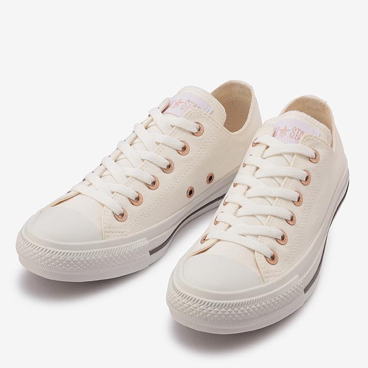 コンバース オールスター フラットアイレッツ PG OX (ホワイト) converse-all-star-flateyelets-pg-ox-white-31304801-pair