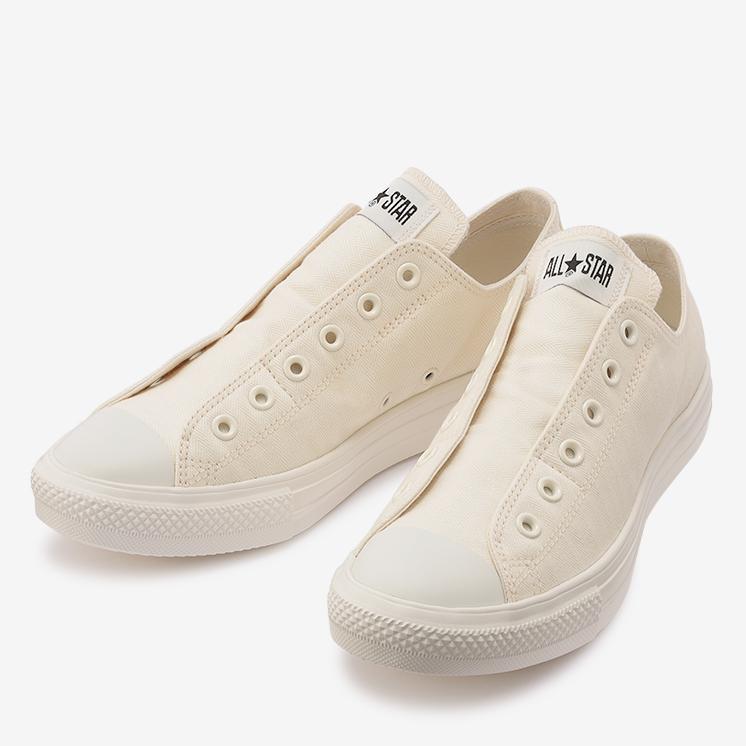コンバース オールスター ライト ML ヘリングボーン スリップ OX ホワイト converse-all-star-light-ml-herringbone-slip-ox-white-31304651-front