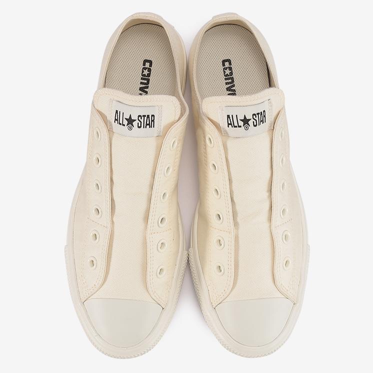 コンバース オールスター ライト ML ヘリングボーン スリップ OX ホワイト converse-all-star-light-ml-herringbone-slip-ox-white-31304651-top