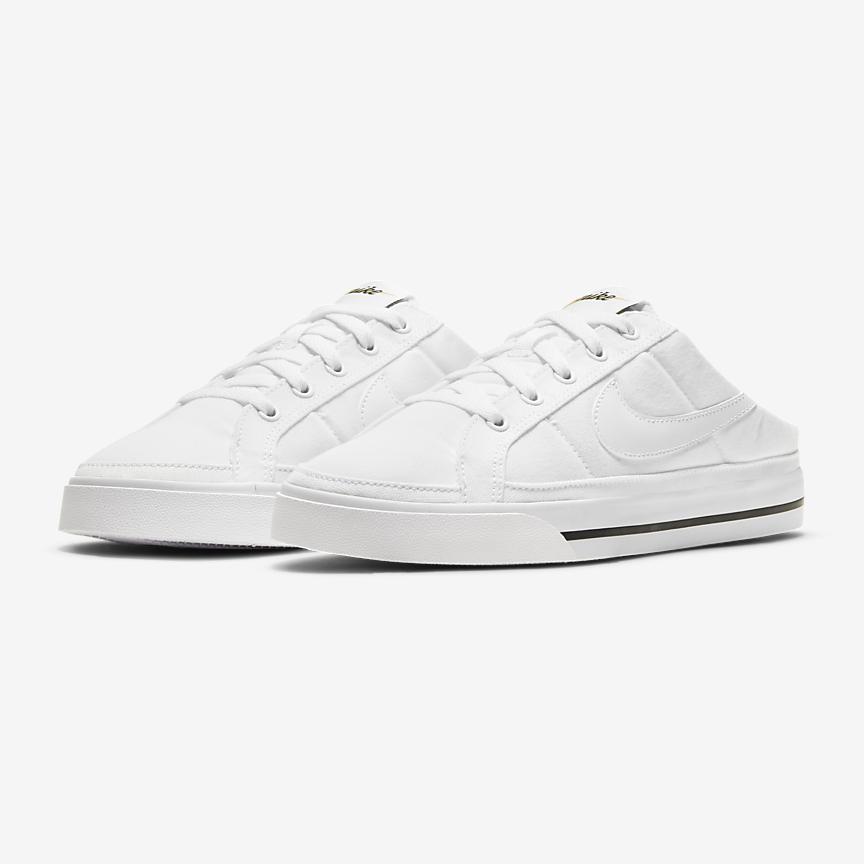 Nike のミュールスニーカー mule_sneakers_2021-nike-court-legacy-mule-white
