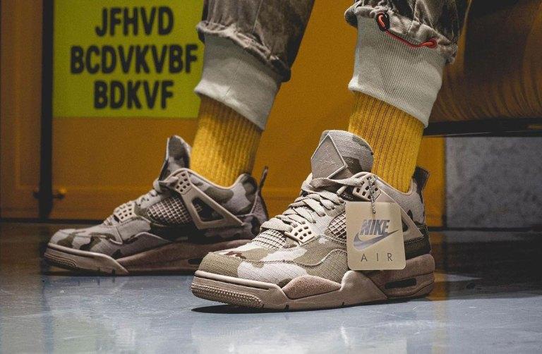 アレイリメイ ナイキ エア ジョーダン 4 コラボ 着用画像 Aleali-May-Air-Jordan-4-Camo-Veterans-Day-DJ1193-200-On-Feet