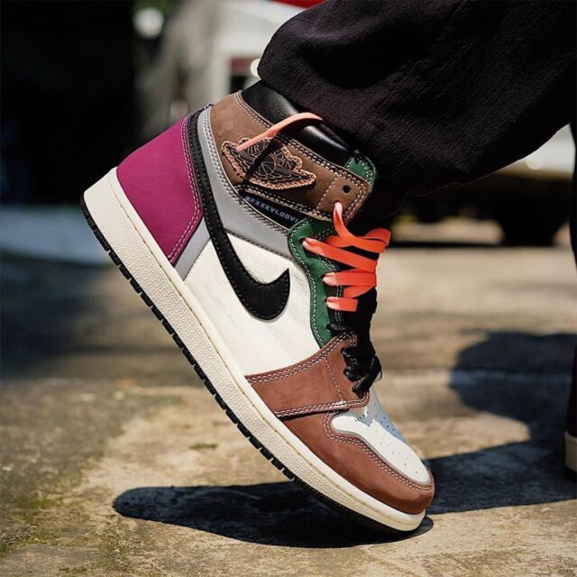 """ナイキ エア ジョーダン 1 ハイ OG """"ハンドクラフティッド"""" Nike-Air-Jordan-1-High-OG-Hand-Crafted-DH3097-001-look-2"""