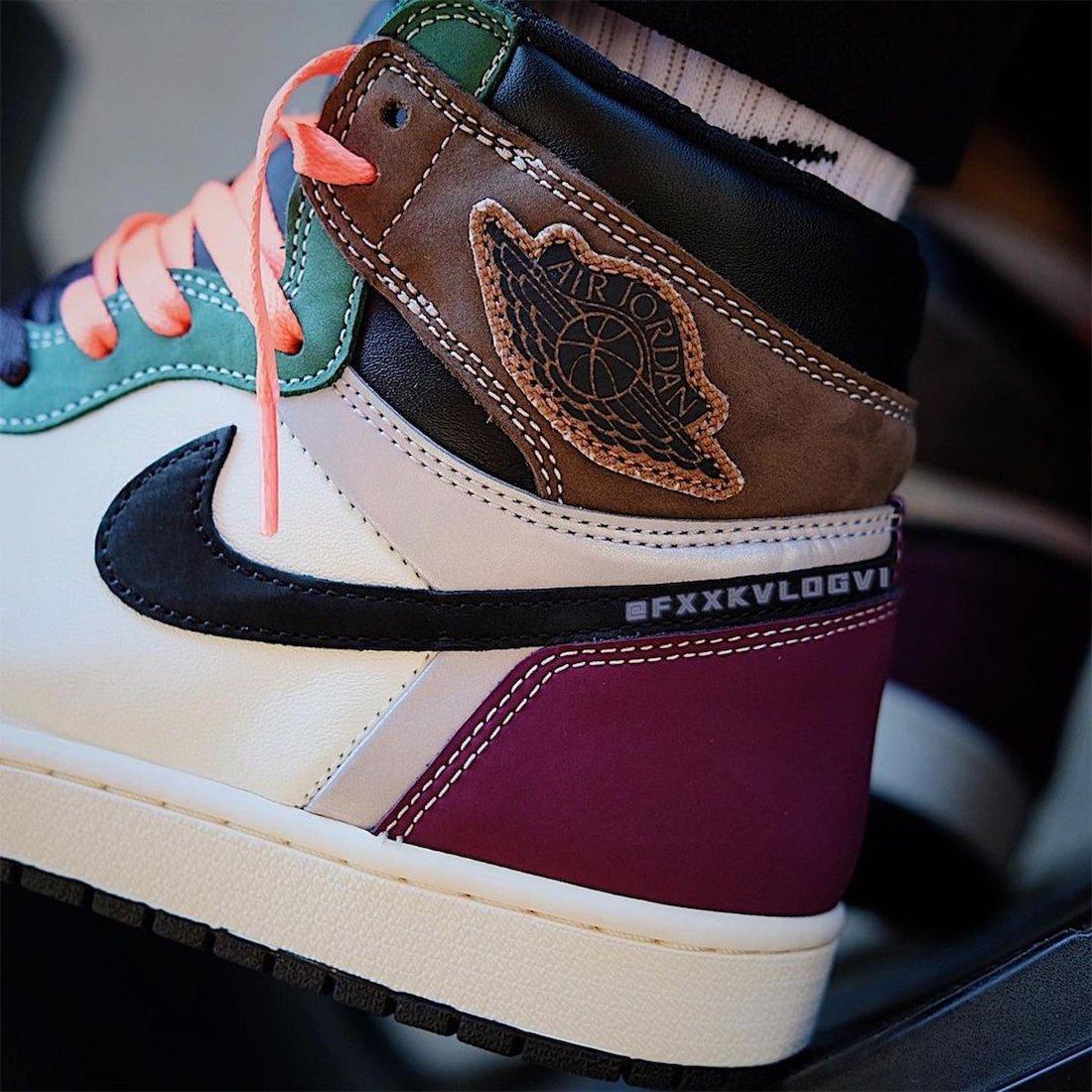 """ナイキ エア ジョーダン 1 ハイ OG """"ハンドクラフティッド"""" Nike-Air-Jordan-1-High-OG-Hand-Crafted-DH3097-001-look-3"""