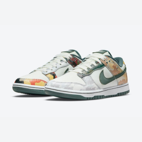 """ナイキ ダンク ロー SE """"マルチカモ"""" Nike-Dunk-Low-Multi-Camo-DH0957-100-pair"""