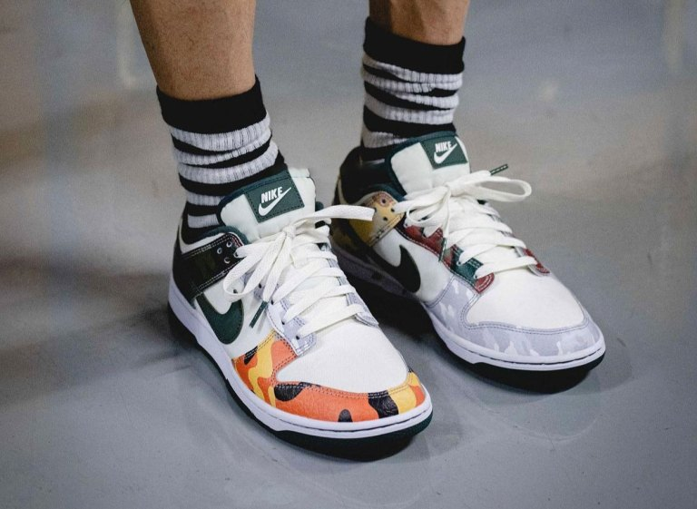 """7月16日, 30日発売【Nike Dunk Low SE """"Multi Camo""""】カモフラ柄ダンクに注目!"""