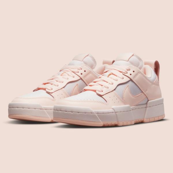 """ナイキ ウィメンズダンク ロー ディスラプト """"ベアリー ローズ"""" Nike-WMNS-Dunk-Low-Disrupt-Barely-rose-CK6654-602-pair"""