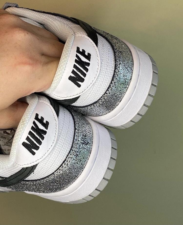 """ナイキ ダンク ロー """"シマー"""" nike-dunk-low-shimmer-heel"""