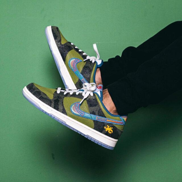 "Nike Dunk Low ""SiEMPRE Familia"" ナイキ ダンク ロー ""シエンプレ ファミリア"" DO2160-335 wearing"