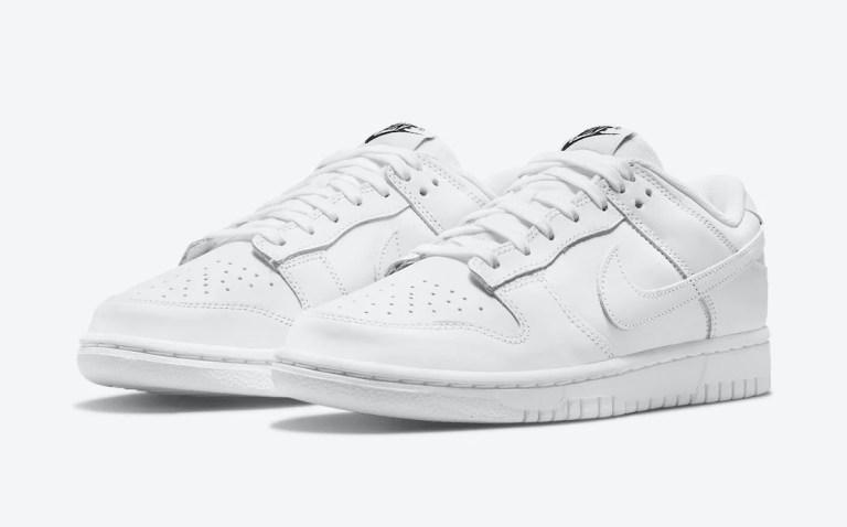 """7月23日発売【Nike WMNS Dunk Low """"Triple White""""】トリプルホワイトという純白ダンク☆"""