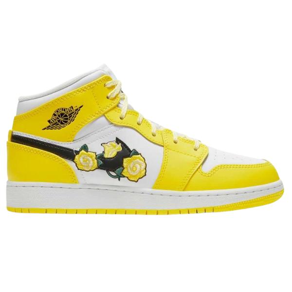 Air Jordan 1 Mid Dynamic Yellow Floral (GS)