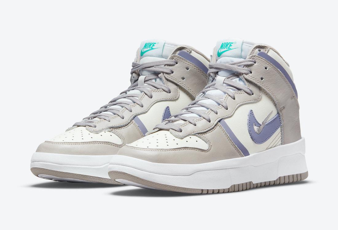 ナイキ ダンク ハイ レベル アイロン パープル Nike-Dunk-High-Rebel-Iron-Purple-DH3718-101-pair