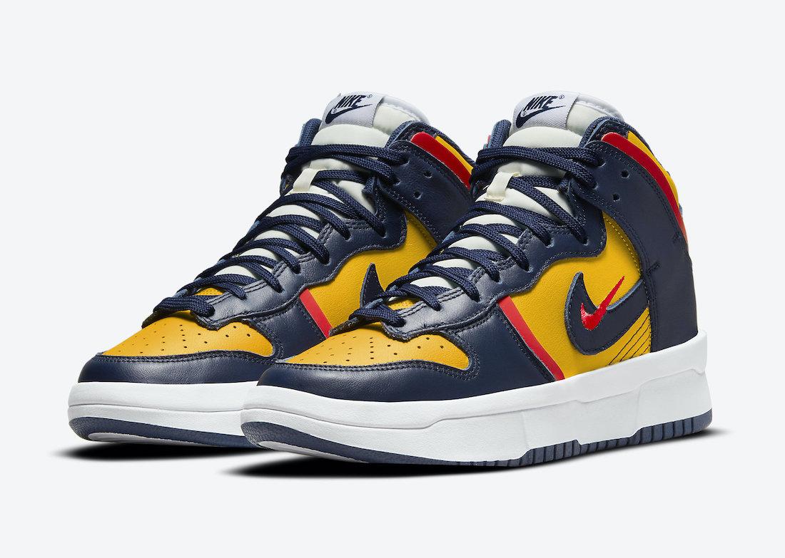 ナイキ ダンク ハイ レベル ミシガン Nike-Dunk-High-Rebel-Michigan-DH3718-701-pair
