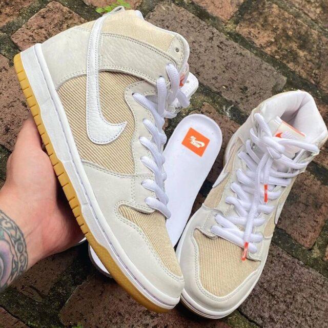 Nike-SB-Dunk-High-ISO-Orange-Label-DA9626-100 Sail/Sail-Sail DA9626-100 detail
