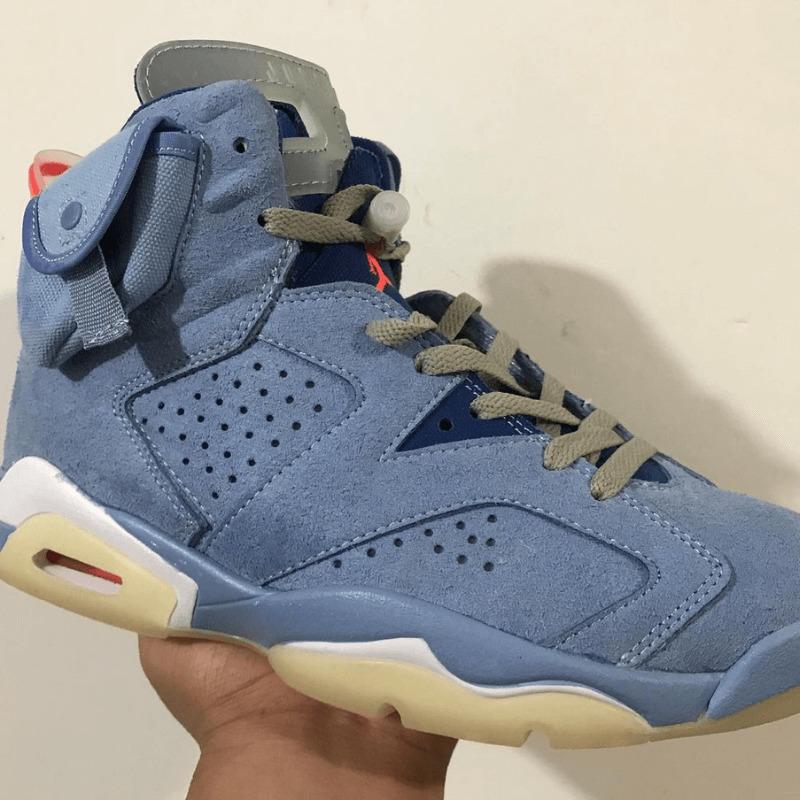 Travis Scott x Nike Air Jordan 6 Light Blue トラヴィス スコット ジョーダン6 detail