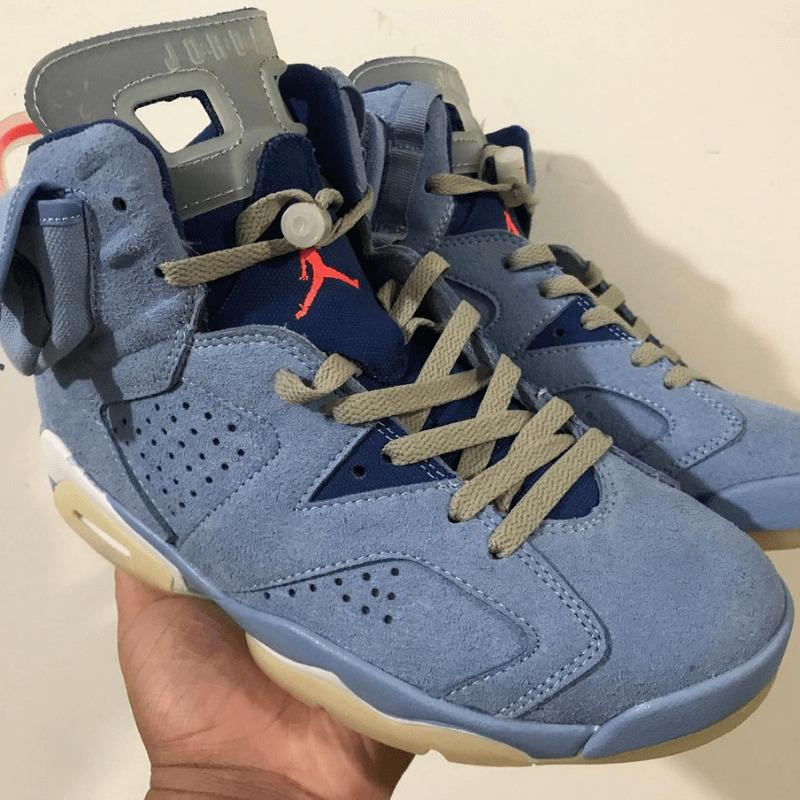 """First Look【Travis Scott x Nike Air Jordan 6 """"University Blue""""】トラビススコットコラボの新作となる!?"""