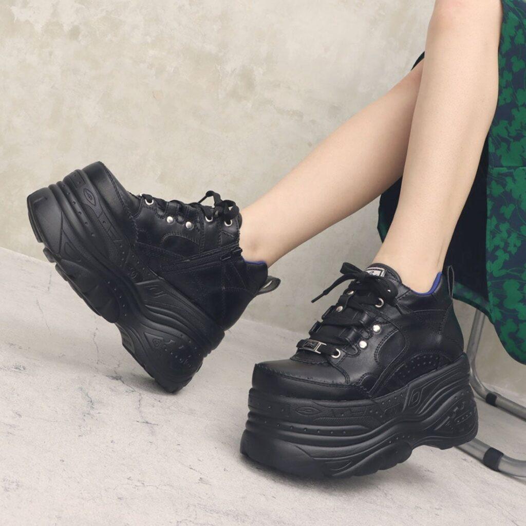 厚底 スニーカー ブラック 黒 YOSUKE Platform Sneakers Black