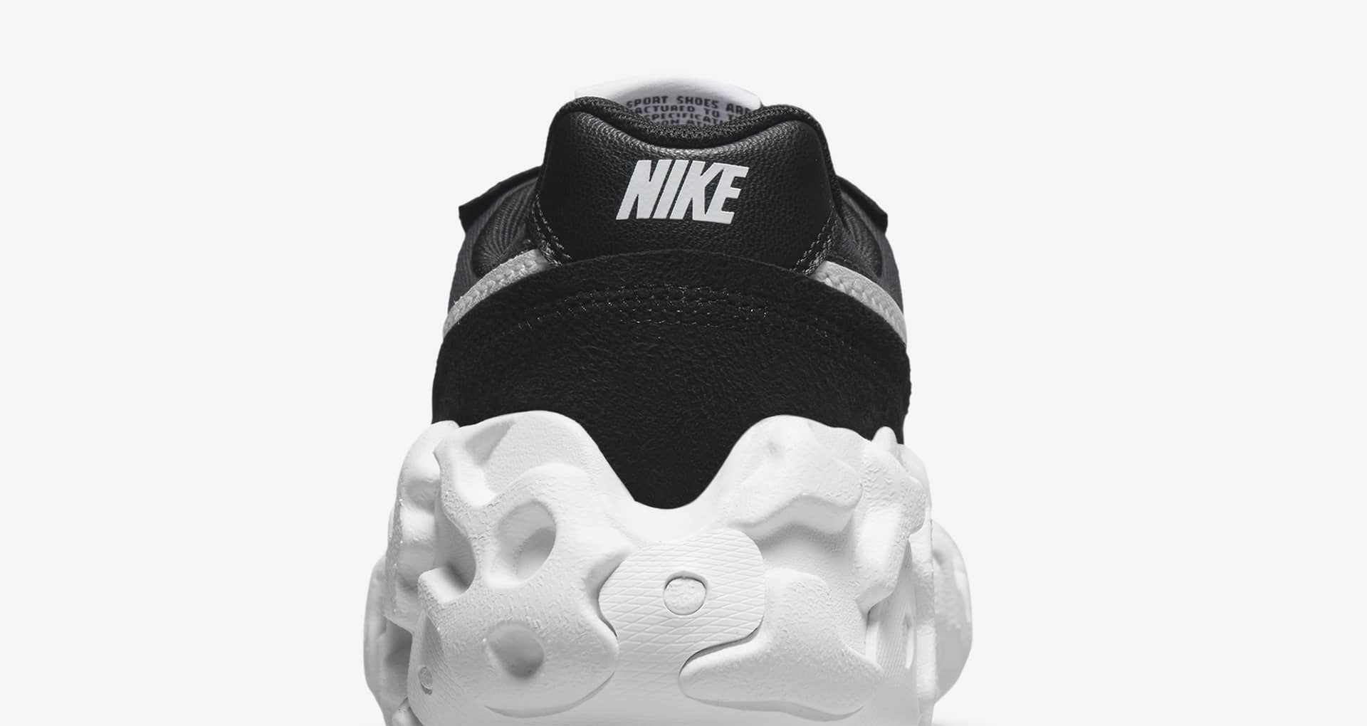 """ナイキ オーバーブレイク """"ブラック アンド ホワイト"""" nike-overbreak-2-colors-black-and-white-dc3041-002-heel-closeup"""