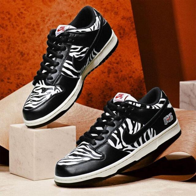 クウォータースナックス ナイキ SB ダンク ロー ゼブラケーキ quartersnacks-nike-sb-dunk-low-zebra-cakes-look-1