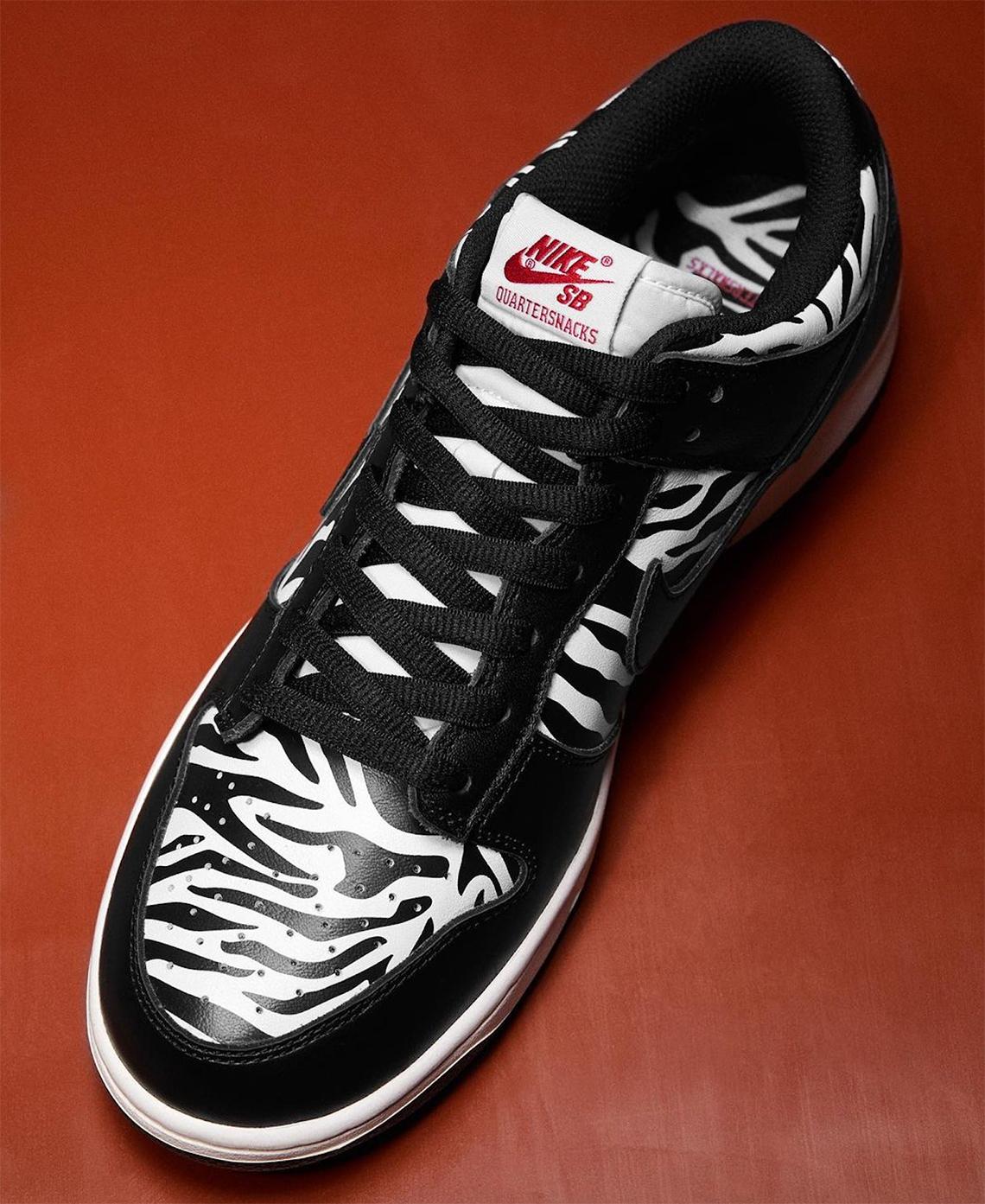 クウォータースナックス ナイキ SB ダンク ロー ゼブラケーキ quartersnacks-nike-sb-dunk-low-zebra-cakes-look-4