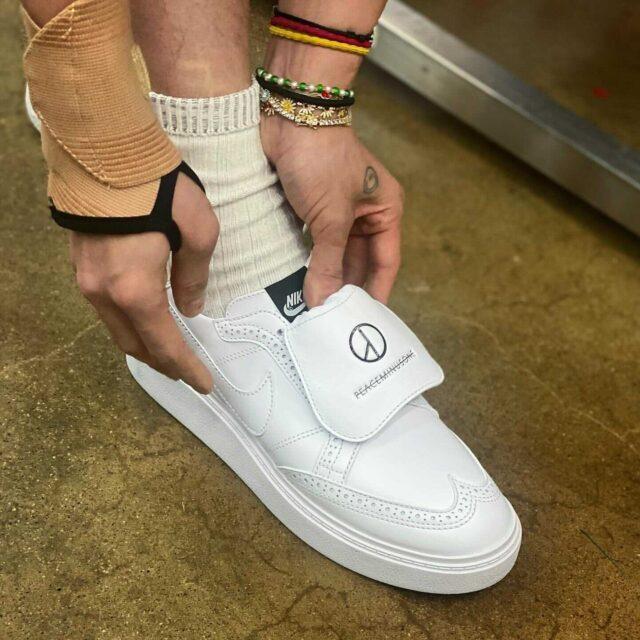 ピースマイナスワン ナイキ コラボ クォンド 1 PEACEMINUSONE x Nike KWONDO 1 wearing image parts