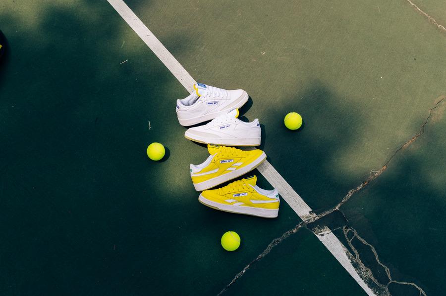 プリンス リーボック コラボ クラブ C リベンジ Prince-Reebok-Club-C-White-Yellow-collaboration-02