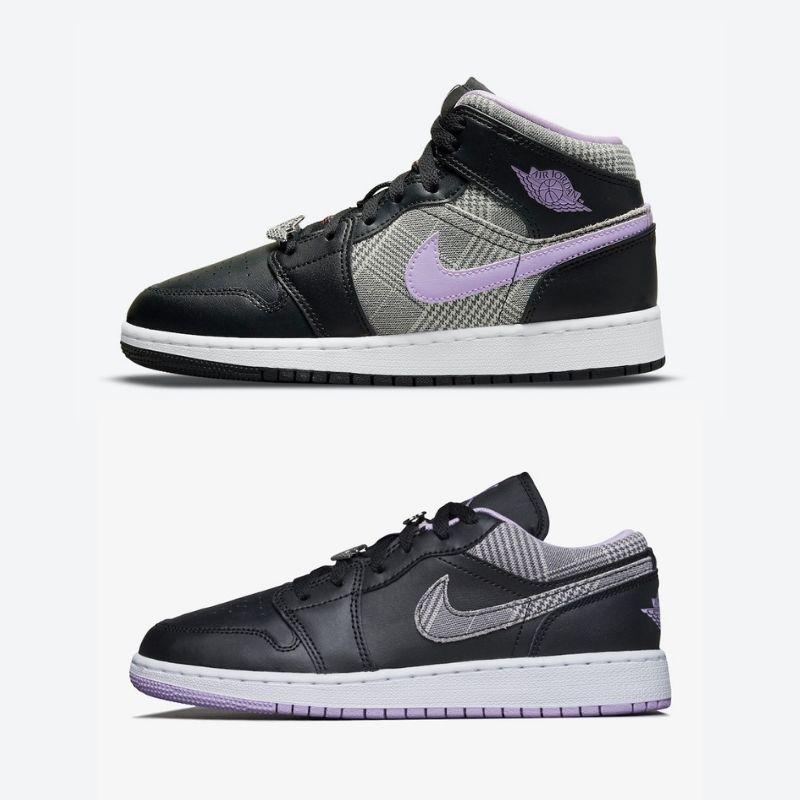 """9月22日,10月12日発売【Nike Air Jordan 1 SE GS """"Houndstooth"""" Mid & Low】"""