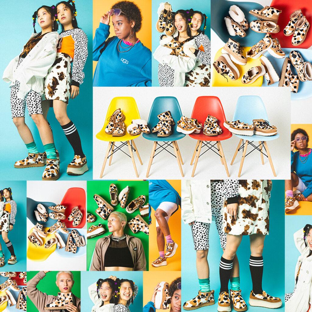 9月15日先行発売【atmos × UGG Cow Collection】カウヘアー素材の牛柄シューズが可愛い新コレクション!