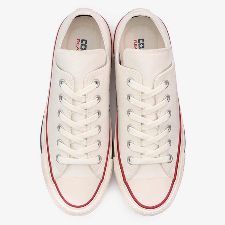 コンバース オールスター 100 チャンク OX (ホワイト) converse-all-star-100-chunk-ox-white-31305310-top