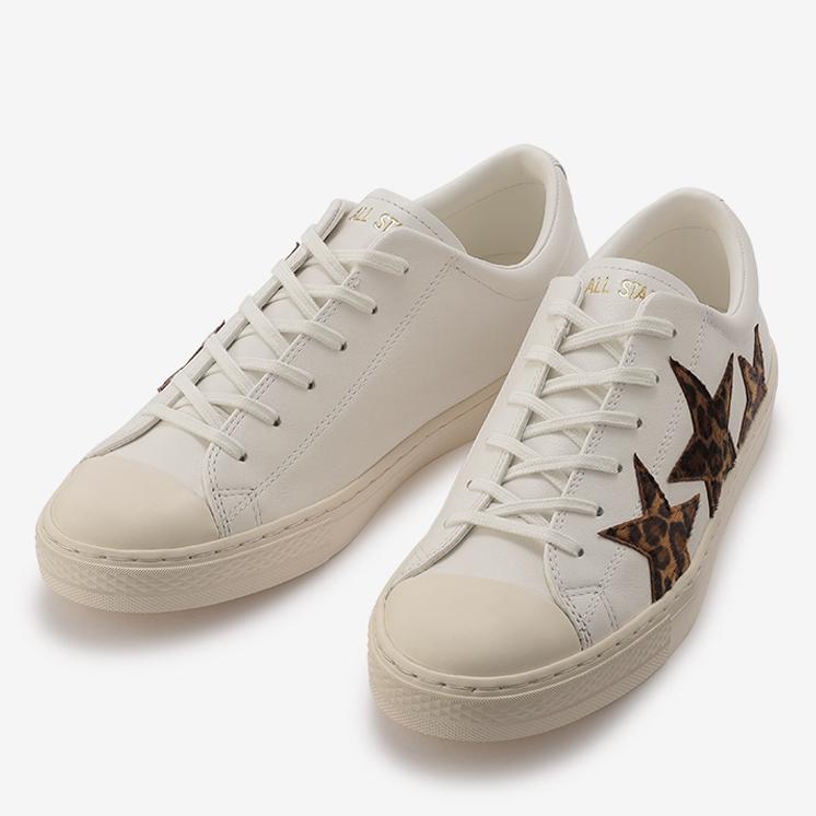 コンバース オールスター クップ トリオスター LP OX (ホワイト/レパード) converse-all-star-coure-triostar-lp-ox-31304951-pair