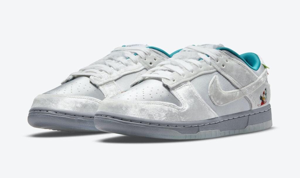 """2021年ホリデー発売【Nike Dunk Low """"Ice""""】雪景色をキュートに表現したウィンター仕様のダンク"""