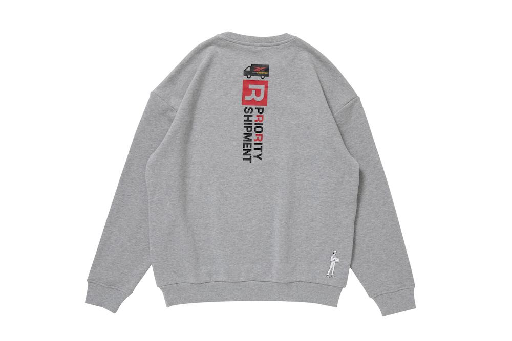 リーボック ブラックアイパッチ クルースウェットTシャツ グレー reebok-designed-by-blackeyepatch-cl-bep-crew-sweatshirt-back