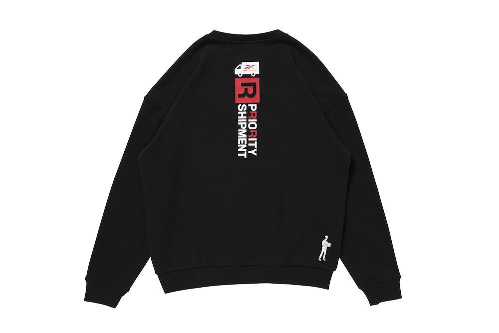 リーボック ブラックアイパッチ クルースウェットTシャツ ブラック reebok-designed-by-blackeyepatch-cl-bep-crew-sweatshirt-back