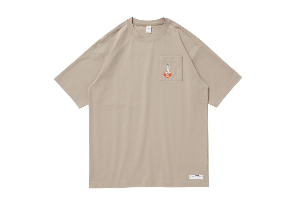 リーボック ブラックアイパッチ Tシャツ モダンベージュ reebok-designed-by-blackeyepatch-cl-bep-u-ss-tee-front