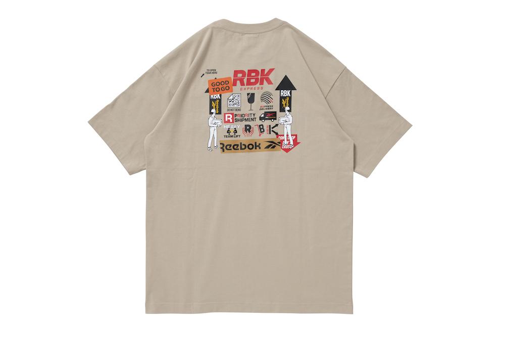 リーボック ブラックアイパッチ Tシャツ モダンベージュ reebok-designed-by-blackeyepatch-cl-bep-u-ss-tee-back