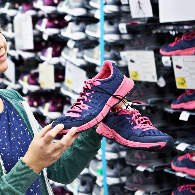 running_shoes at store