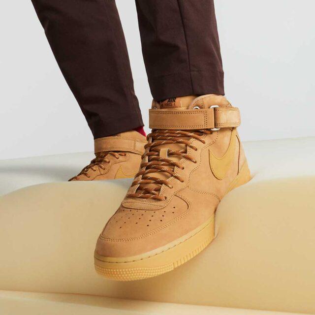 """10月9日発売【Nike Air Force 1 Mid """"Flax""""】"""