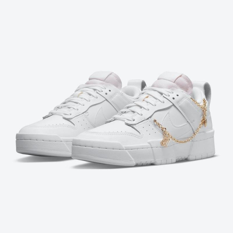 """2021年発売【Nike WMNS Dunk Low Disrupt """"Gold Charms""""】金のチャーム付きレディース向け新型ダンク"""